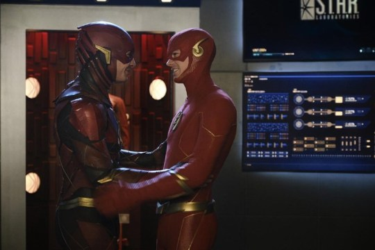 Crisis On Infinite Earths drops another epic cameo as Ezra Miller appears as The Flash