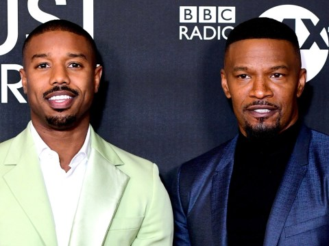Michael B Jordan and Jamie Foxx scrub up well at Just Mercy premiere