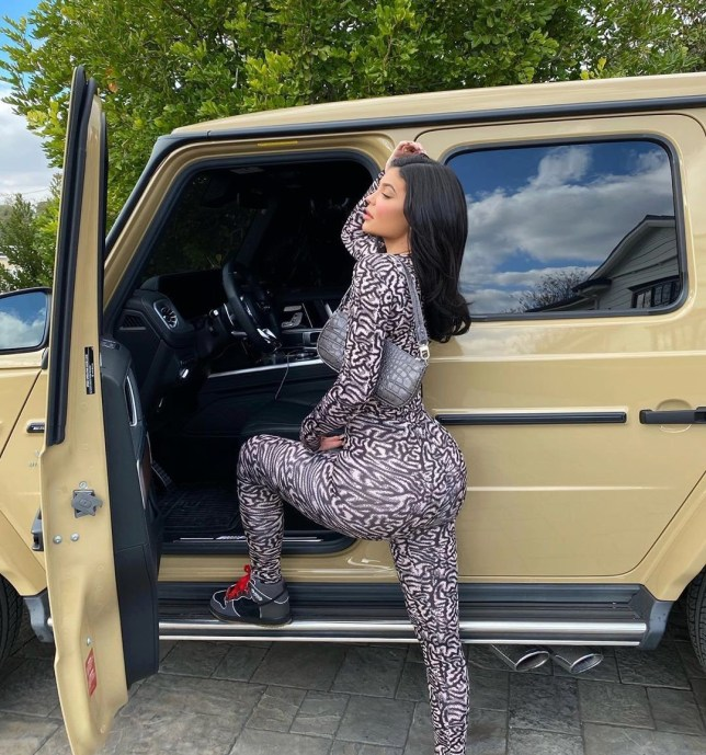 Kylie Jenner pulls off patterned bodysuit and trainers in a way we never could and it's not fair