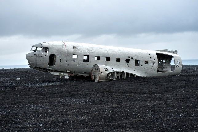 In 1973 a United States Navy DC plane ran out of fuel and crashed on the black beach at S??lheimasandur, south coast Iceland. All the crew survived but the plane was never recovered, for years, he plane stay on the Icelandic black snads and damage by weather and time.