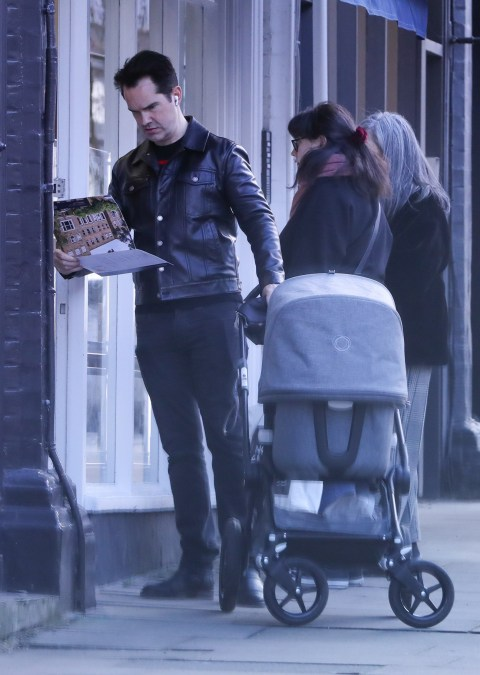 Jimmy Carr Pushes Mystery Pram During Stroll To Estate Agents Metro News Karoline copping pics are great to personalize your world. jimmy carr pushes mystery pram during