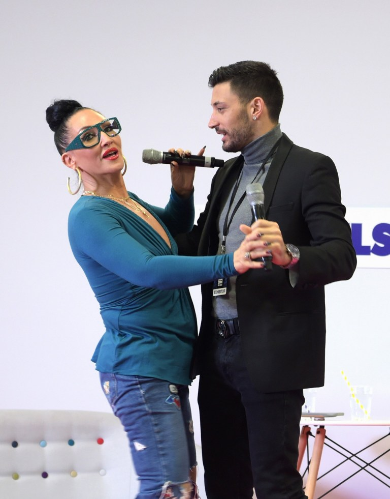 LONDON, ENGLAND - JANUARY 19: Michelle Visage and Giovanni Pernice at RuPaul's DragCon UK presented by World Of Wonder at Olympia London on January 19, 2020 in London, England. (Photo by David M. Benett/Dave Benett/Getty Images for World Of Wonder Productions)