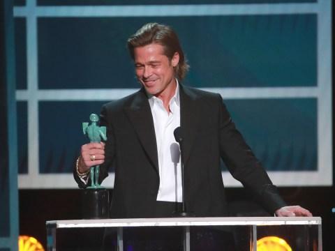SAG Awards 2020: Brad Pitt jokes about Tinder profile as Jennifer Aniston looks on and claps during hilarious speech