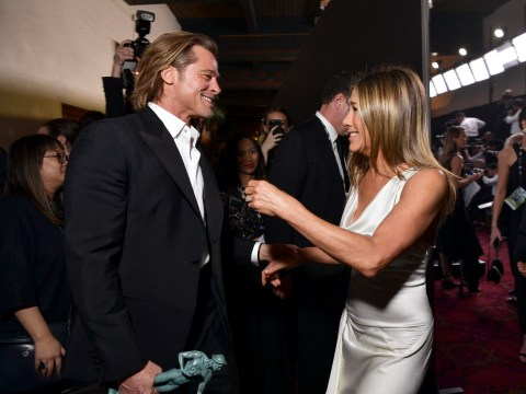 Brad Pitt 'returning to the woman of his dreams' but grabbing Jennifer Aniston's wrist is 'possessive'
