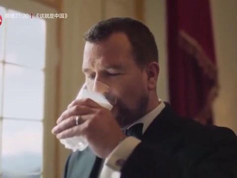 Queen's eldest grandson Peter Phillips appears in milk advert on Chinese TV