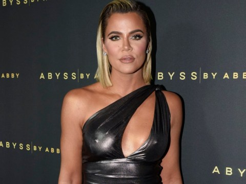 Khloe Kardashian channels inner Angelina Jolie as she slays in silver gown at Hollywood bash