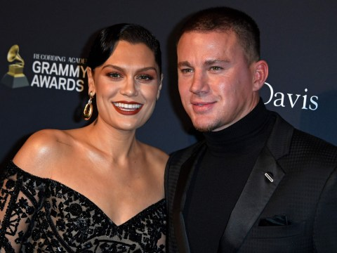 Jessie J asks Channing Tatum if she has lipstick on her teeth during cute red carpet moment at Grammys gala