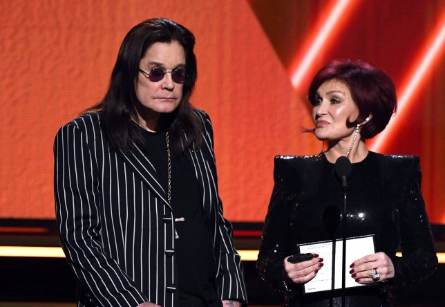 LOS ANGELES, CALIFORNIA - JANUARY 26: (L-R) Ozzy Osbourne and Sharon Osbourne speak onstage during the 62nd Annual GRAMMY Awards at STAPLES Center on January 26, 2020 in Los Angeles, California. (Photo by Kevin Winter/Getty Images for The Recording Academy )