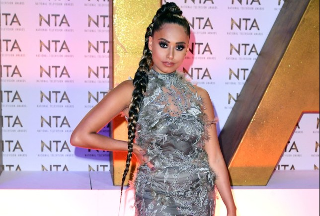 Amber Rose Gill during the National Television Awards at London's O2 Arena. PA Photo. Picture date: Tuesday January 28, 2020. See PA story SHOWBIZ NTA. Photo credit should read: Ian West/PA Wire