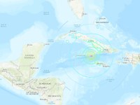 The U.S. Geological Survey says a magnitude 7.7 earthquake has struck south of Cuba and northwest of Jamaica and the U.S. Tsunami Warning Centres has issued a tsunami warning for Jamaica, Cuba and the Cayman Islands