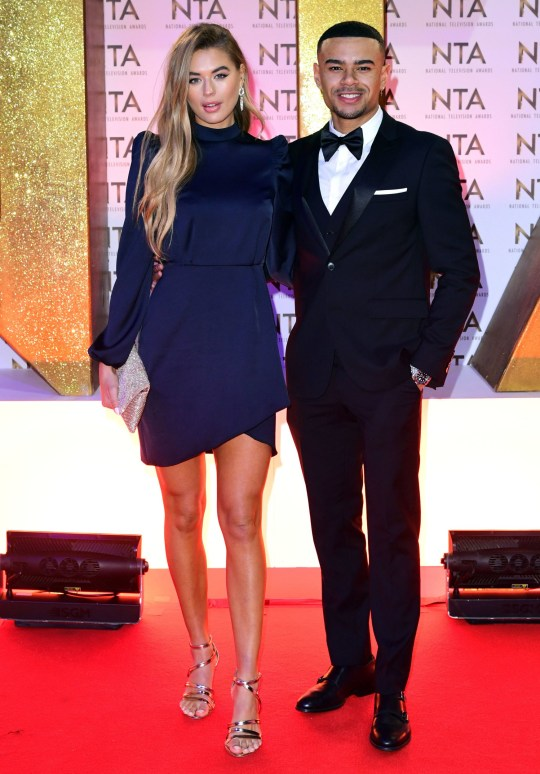 Arabella Chi (left) and Wes Nelson during the National Television Awards at London's O2 Arena. PA Photo. Picture date: Tuesday January 28, 2020. See PA story SHOWBIZ NTA. Photo credit should read: Ian West/PA Wire