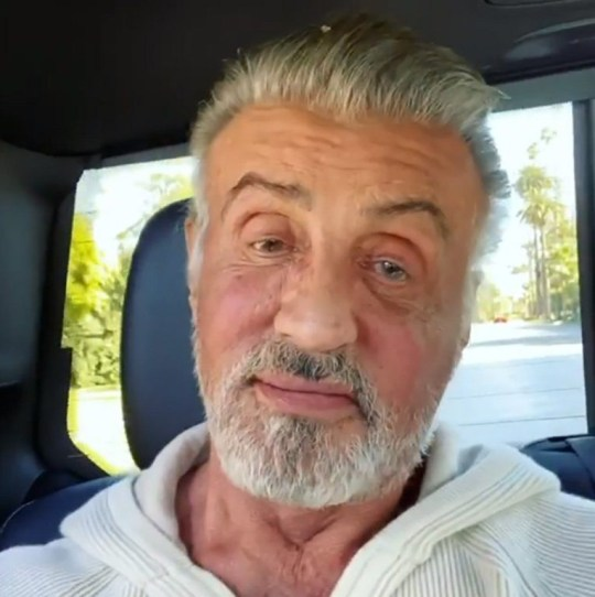 Sylvester Stallone is a silver fox as he lets his natural grey shine through