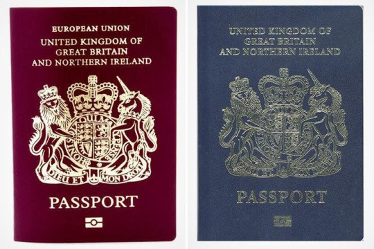 New and old UK passports