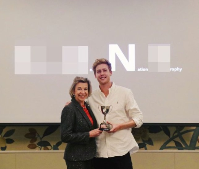 YouTuber Josh Pieters ?presents Katie Hopkins with fake award? where she delivers speech plagued with slurs