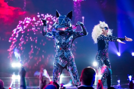 This image is strictly embargoed until 00.01 Friday 31st January 2020 From Bandicoot TV The Masked Singer: Ep6 on ITV Pictured: Fox. This photograph is (C) Bandicoot TV and can only be reproduced for editorial purposes directly in connection with the programme or event mentioned above, or ITV plc. Once made available by ITV plc Picture Desk, this photograph can be reproduced once only up until the transmission [TX] date and no reproduction fee will be charged. Any subsequent usage may incur a fee. This photograph must not be manipulated [excluding basic cropping] in a manner which alters the visual appearance of the person photographed deemed detrimental or inappropriate by ITV plc Picture Desk. This photograph must not be syndicated to any other company, publication or website, or permanently archived, without the express written permission of ITV Picture Desk. Full Terms and conditions are available on the website www.itv.com/presscentre/itvpictures/terms For further information please contact: james.hilder@itv.com / 0207 157 3052