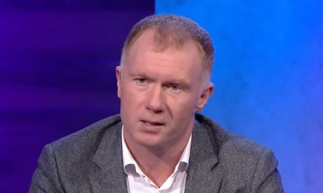 Paul Scholes was unhappy with Manchester United's midfielders in their defeat to Burnley