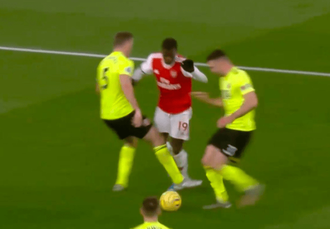 Nicolas Pepe was denied a penalty during Arsenal's 1-1 draw vs Sheffield United