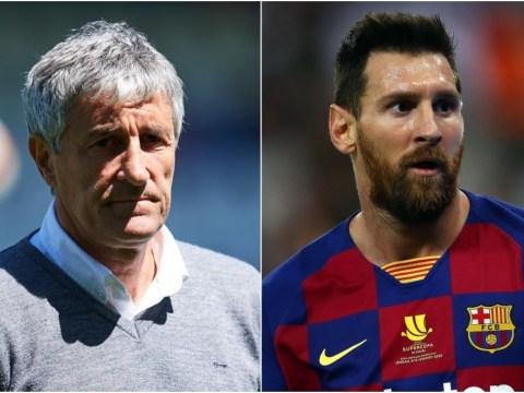 Barcelona's new manager Quique Setien has already sung Lionel Messi's praises