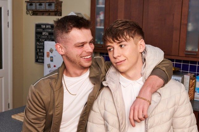 Jordan and Sid in Hollyoaks