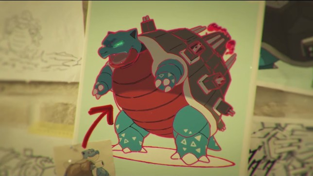 Blastoise in Gigantamax form
