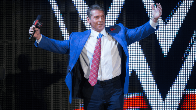 WWE chairman Vince McMahon makes his entrance