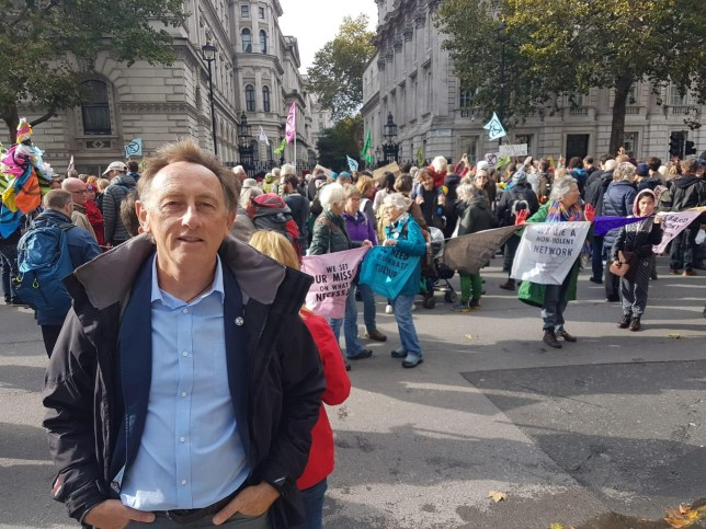 Rob at an Extinction Rebellion protest march