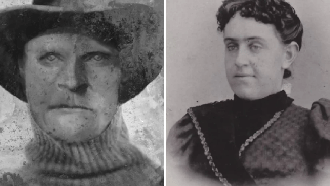 Composite image of Joseph Henry Loveless next to photo of his murdered wife Agnes