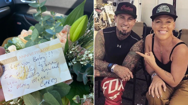 Pink showered with love by Carey Hart as pair celebrate anniversary