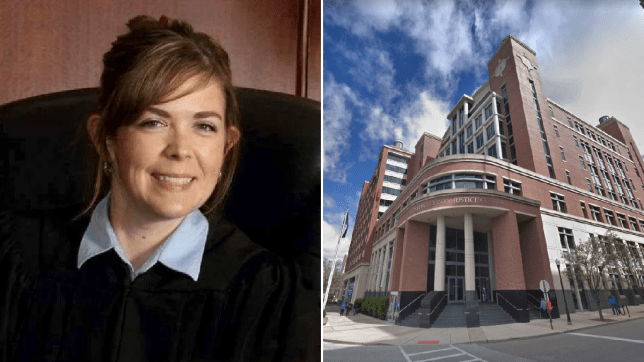 Judge suspended after she 'had threesome in courthouse'