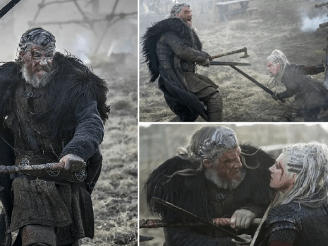 Vikings' Katheryn Winnick and Kieran O'Reilly refused stunt doubles for 'exhausting bloodbath'