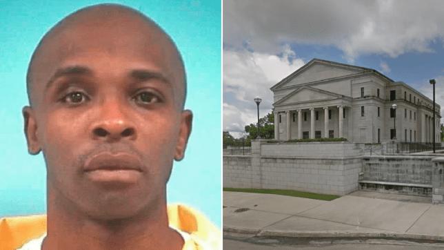 Mugshot of Willie Nash next to file photo of Mississippi Supreme Court