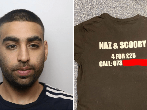 Drug dealer's T-shirt made it very easy to catch him