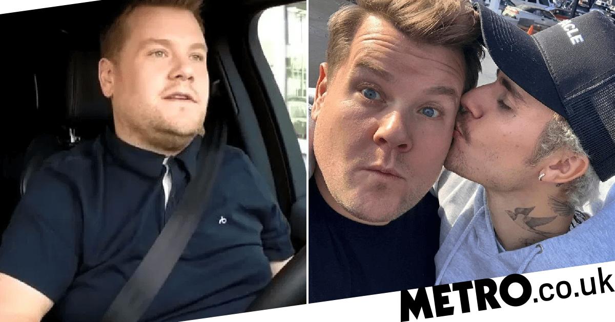 James Corden reacts to Carpool Karaoke revelation that he doesn't even drive car
