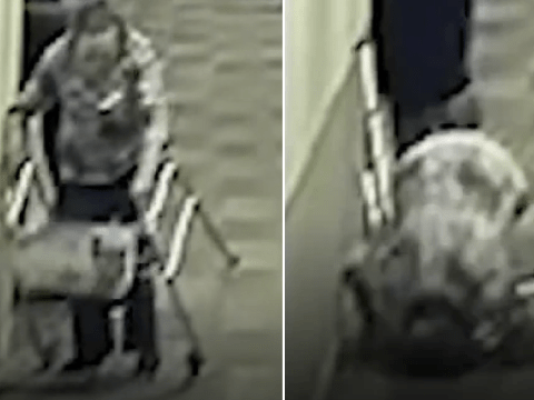 Horrific video shows moment care home patient, 89, tripped and broke her neck