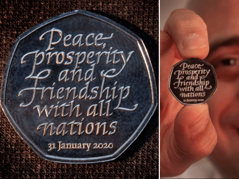 New 50p Brexit coin unveiled days before UK's leaving date
