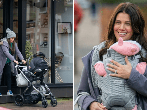 Rebekah Vardy couldn't be happier as she makes first public outing with baby Olivia Grace