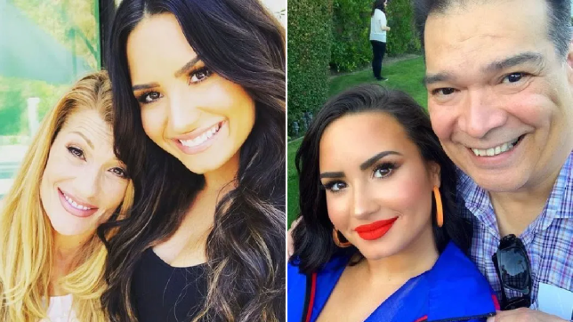 Demi Lovato and parents