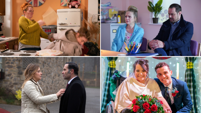 Fiz and Jade in Coronation Street, Mick and Linda in EastEnders, Charity and Graham in Emmerdale and Courtney and Jesse in Hollyoaks