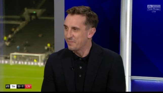 Gary Neville believes the Premier League title is heading to Liverpool