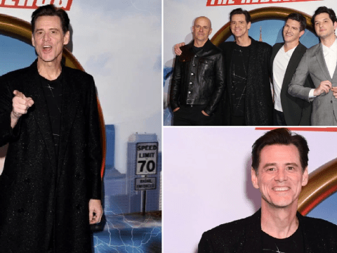 Jim Carrey jokes around with paparazzi as Sonic The Hedgehog premiere hits London