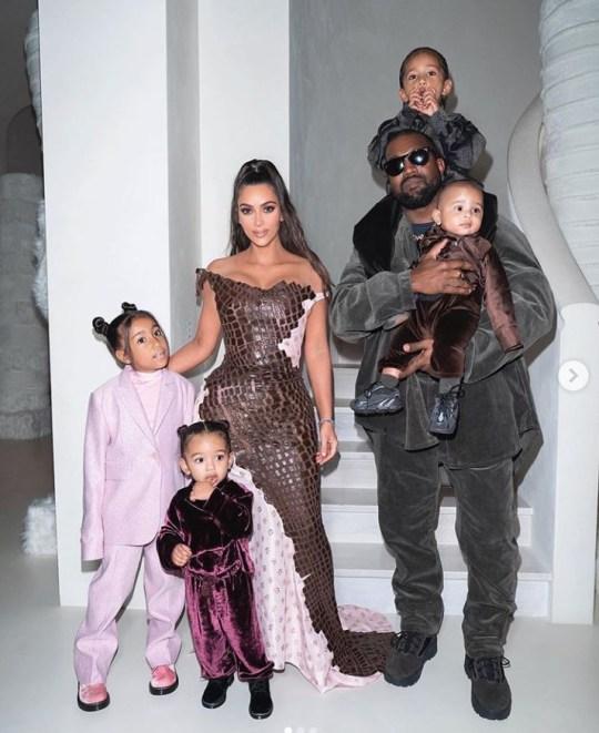 Kim Kardashian, Kanye West and their children
