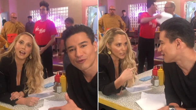 Saved By The Bell stars Mario Lopez and Elizabeth Berkeley