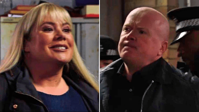 Sharon and Phil in EastEnders