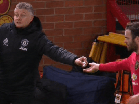 Ole Gunnar Solskjaer explains note he passed to Juan Mata during Manchester United's win over Wolves