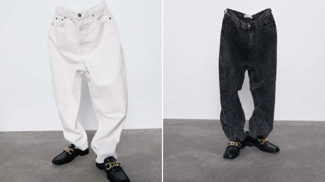 Zara jeans posed without models