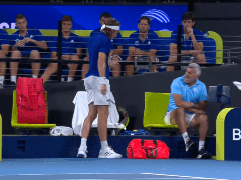 Stefanos Tsitsipas speaks out after injuring his dad with a racquet smash in Nick Kyrgios defeat