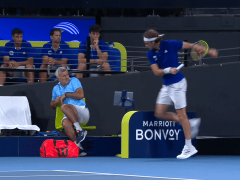 Stefanos Tsitsipas injures his dad with angry racquet smash during Nick Kyrgios clash
