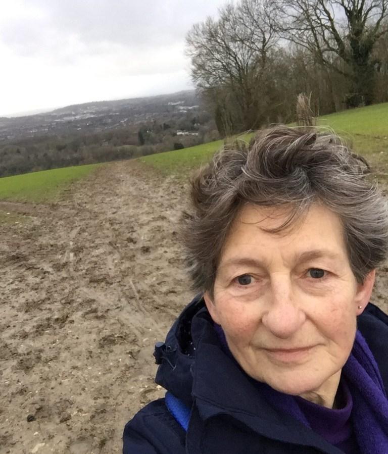 Doreen on a walk