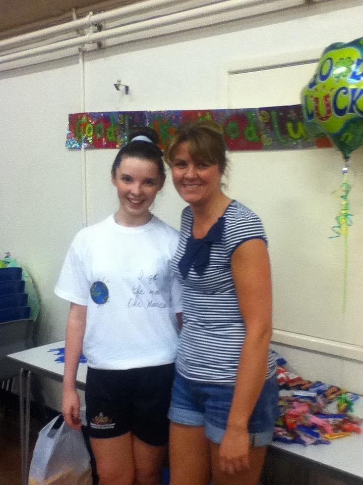 Annabelle con il suo primo insegnante di danza