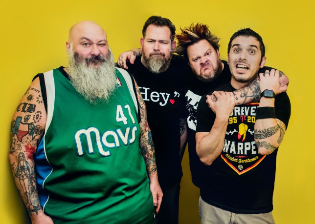 Pop punk band Bowling For Soup members Chris Burney, Gary Wiseman, Jaret Reddick and Rob Felicetti